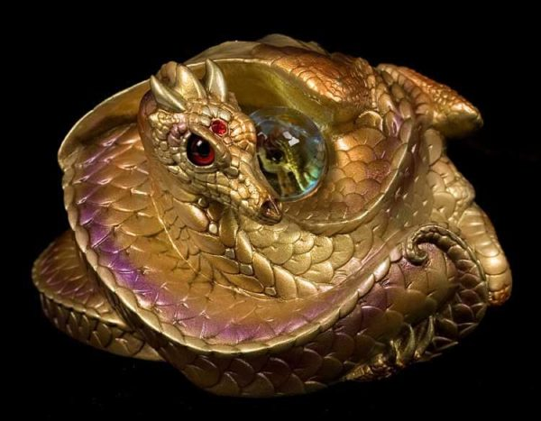Photo of Coiled Dragon - Gold