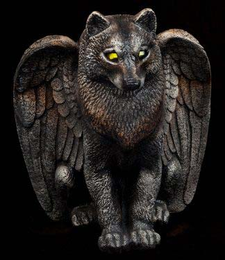 Spirit Wolf Candle Lamp with Yellow Eyes