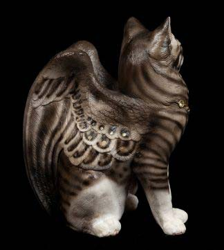"Large Bird-Winged Flap Cat -  ""Dixie"""