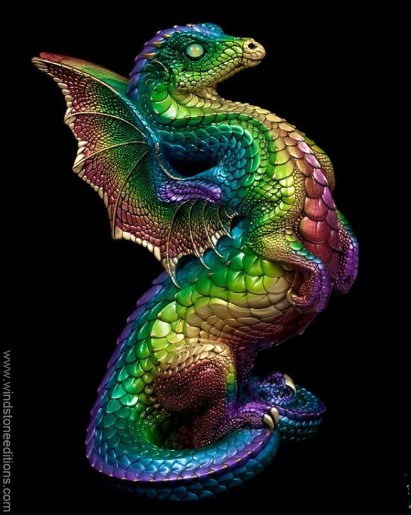 Rising Spectral Dragon - Rainbow