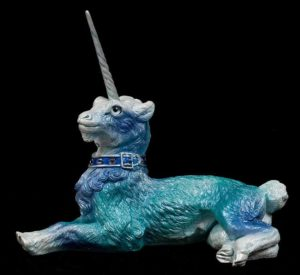 Blue Ice Gothic Unicorn by Windstone Editions