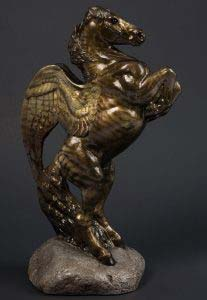 Bronze Tiger Male Pegasus by Windstone Editions