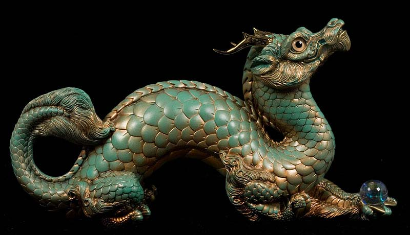 Copper Jade Oriental Dragon by Windstone Editions
