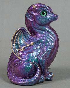 Emerald Violet Shift Fledgling Dragon by Windstone Editions