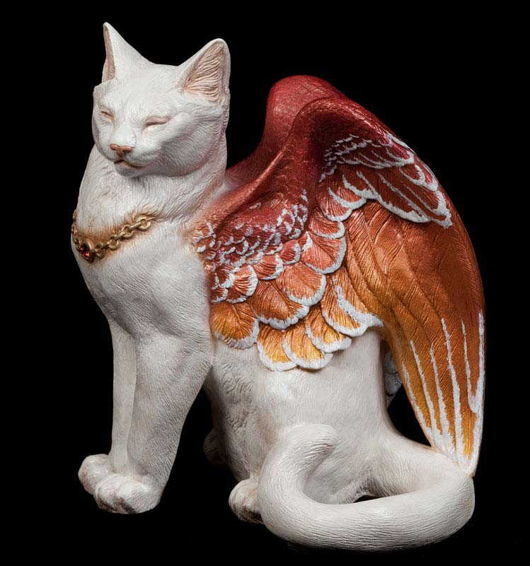 Snow Fire Flap Cat by Windstone Editions