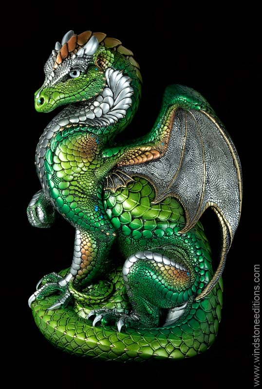 Windstone Editions collectible dragon figurine - Secret Keeper - Elven