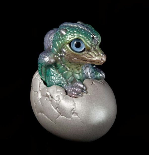 Windstone Editions collectable dragon sculpture - Hatching Dragon (version 2) - Pastel Rainbow