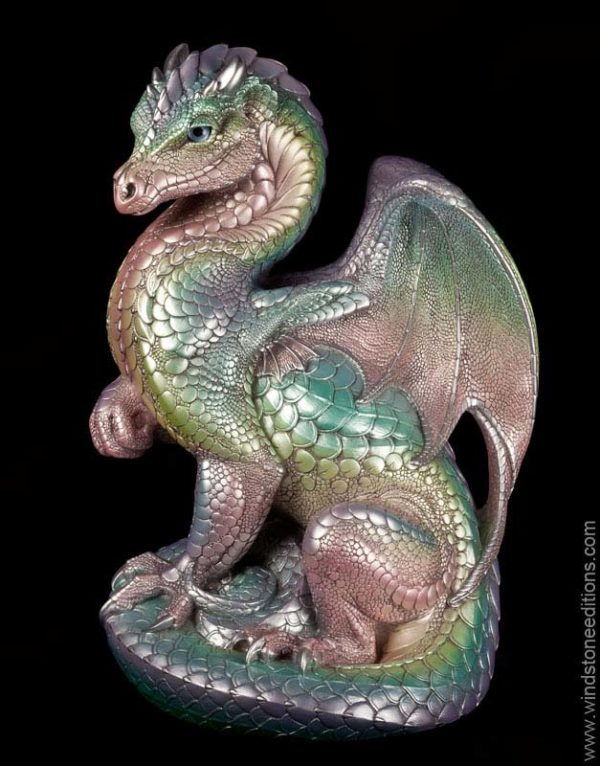 Windstone Editions collectible dragon figurine - Secret Keeper - Pastel Rainbow