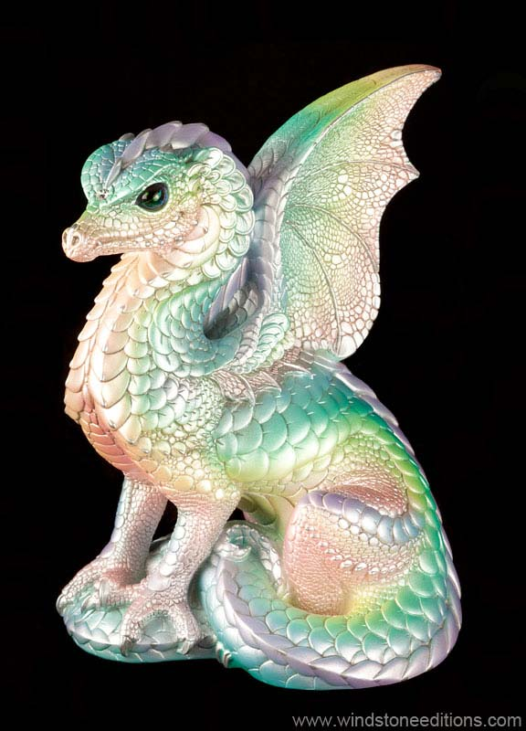 Windstone Editions collectible dragon figurine - Spectral Dragon - Pastel Rainbow