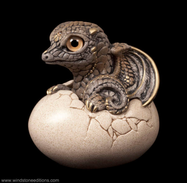 Windstone Editions collectible dragon figurine - Hatching Dragon (version 2) - Stone