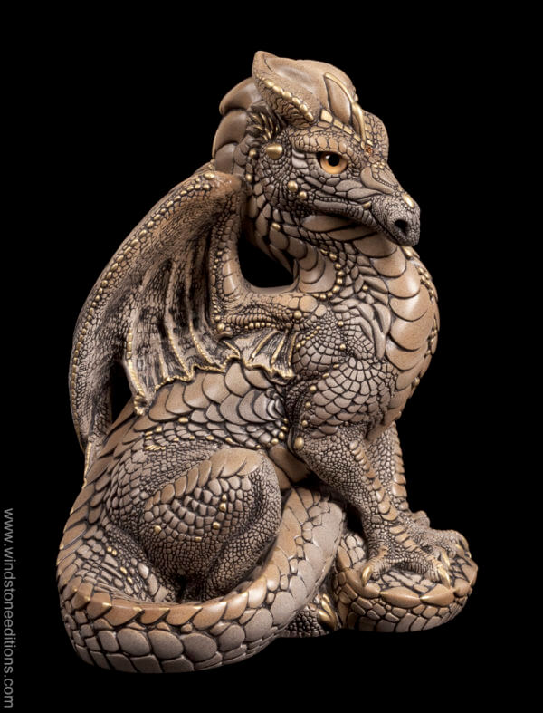 Windstone Editions collectible dragon figurine - Male Dragon - Stone