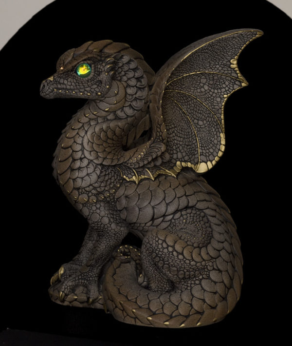 Windstone Editions collectable dragon sculpture - Spectral Dragon - Stone